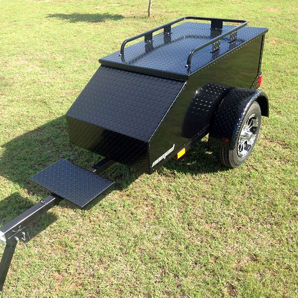 Custom Black Out Motorcycle Trailer