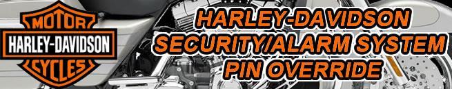 Harley Davidson Security System Alarm Pin Override