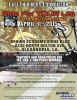 Ride For Your Life (1st Annual International, Synchronized) CenLA area