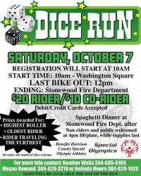 3rd Annual Special Olympics Dice Run