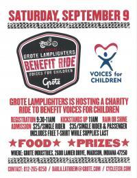 2nd Annual Lamplighter Benefit Ride