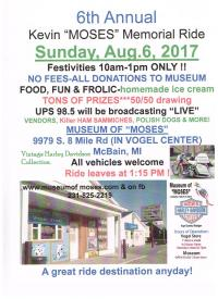 6th Annual Kevin MOSES Memorial Ride