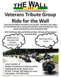 Veterans Tribute Group Ride for the Wall