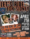 Lets Ride for Sidney Povish Poker Run Fundraiser