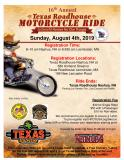 16th Annual Texas Roadhouse Motorcycle Ride benefiting Homes for our Troops