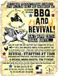 1st Annual BBQ & REVIVAL: Featuring The Tyners, Preacher Cotton +