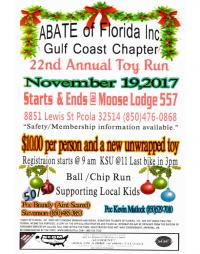 ABATE Gulf Coast Chapter 22nd Annual Toy Ron