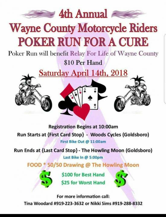 4th Annual Relay For Life Motorcycle Poker Run Cyclefish Com