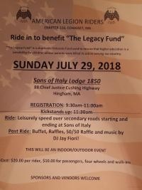 Ride to Benefit The Legacy Fund